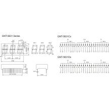0.56 Inch 3 Digit 7 Segment Display (GNS-5631Cx-Dx)