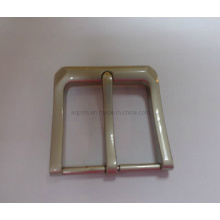 Zinc Alloy Pin Buckle in Foggy Nickel (belt buckle-008)
