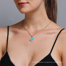Wholesale Titanic Butterfly of Ocean Blue Forever Pendant Necklace