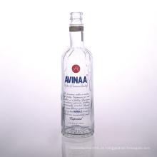 Fornecedores de garrafa de vodka de vidro 700ml impressa