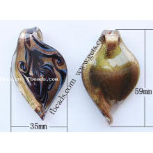 Gets.com lampwork pre owned gold grand ma pendant