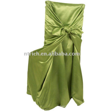 couverture de chaise s'attacher, couverture de chaise de satin, couverture de chaise universelle