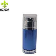 Botella airless azul al por mayor de la bomba de la cara de encargo 50ml