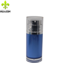 Wholesale custom face cream blue airless pump bottle 50ml