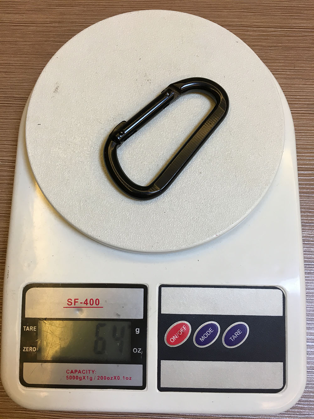 Black Coated D Shape Leo Carabiner 1500KGS
