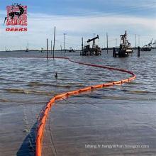 Flèche flottante de clôture d'huile d'algues en pvc WGV750 pour le confinement des déversements d'hydrocarbures