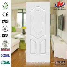 JHK-003 3.2MM HDF Great Wood Grain White Primer Molded Door Skin Popular in Asia