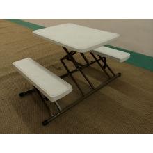 Mesa plástica cuadrada plegable, mesa de café de la puerta usada hacia fuera