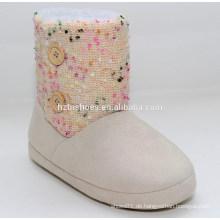 2015 Mode bunte gestrickte billige Winterstiefel mit flachen Sohle Winterstiefel für Winter Stiefel Frauen