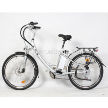 48V hidden portable battery 350W brushless EN15194 electric bicycle city bike with pedals
