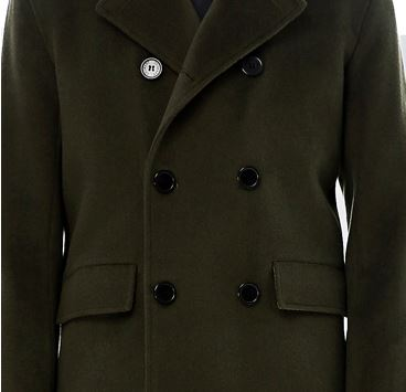 Men's 70% Wool 30% Cashmere Coat -6