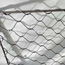 Handgewebte Drahtgeflecht Preis flexible Edelstahl Seil Mesh Netting