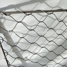 Hand made woven cable mesh price flexible stainless steel rope mesh netting