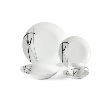 Porslin 20 Piece Round Dinnerware Set