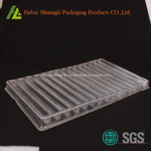 Plastic blister packaging for hardware tray