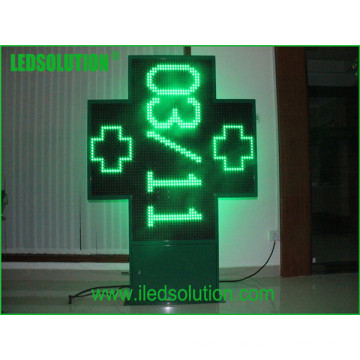 High Quality Cross Green LED Sign Display P20