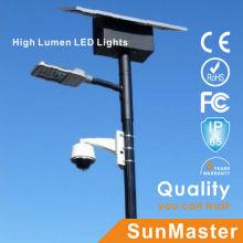 Afrique Soncap Coc CE IEC Certification Lampadaire LED solaire