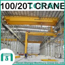 Grúa de arriba modelo 2016 de Qd con la capacidad del gancho 100/20 tonelada