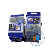 White on black 12m tz231 18mm TZE-345 laminated label tape