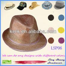 2013 Atacado Moda simples 100% natural papel chapéus chapéu de papel chapéu de palha chapéu, LSP06
