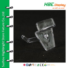 Shop fitting display clear plastic hook