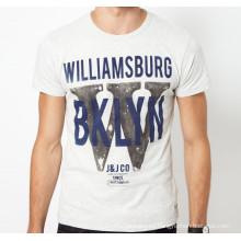 La calidad superior con precio barato puede ser camisetas calientes de encargo de los hombres de la venta del verano de la moda del algodón