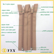 No.5 DTM nylon separating zippers for jackets