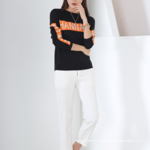 17PKCS229 2017 knit wool cashmere knitted lady sweater