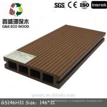 Водонепроницаемый наружный wpc настил-деревянный пластмассовый композит для настилов настила wpc