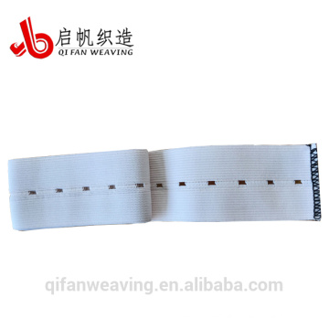 Usine de bonne qualité bande élastique de trou de bouton
