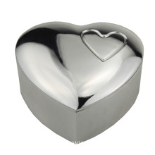 zinc alloy heart-shape jewelry box