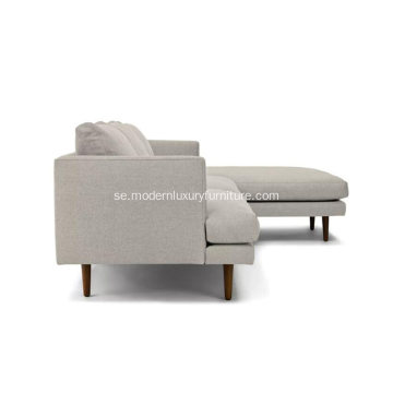 Burrard Seasalt Gray Right Sectional Soffa