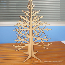 Décoration de fête en gros Décoration d'arbre en bois Mini Décoration de Noël