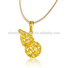 Jóias de moda pingentes banhado a ouro de cucúrbita para melhores amigos