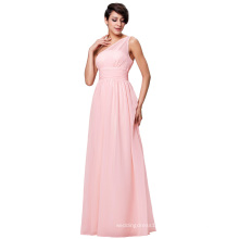 Kate Kasin One ShoulderLight Pink Chiffon Long Formal Bridesmaid Dresses KK000200-1