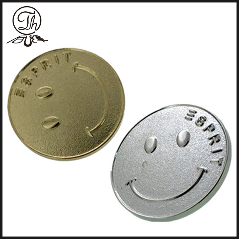 Smiley face pin badges metal