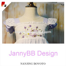 purple lovely avender embroidered summer causal dress