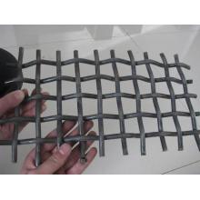 Hochwertige schwarze Stahldraht gecrimpt Mesh