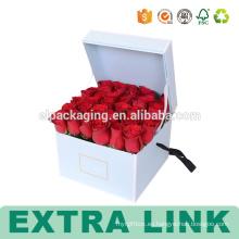 Caja de papel de empaquetado de la flor hermosa de alta calidad de la impresión