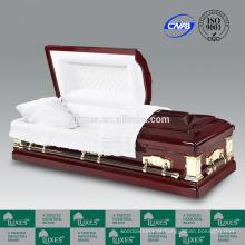 LUXES caixão Goodwill Funeral caixões de madeira com forro de caixão