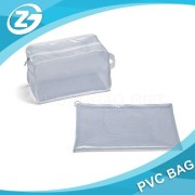 Translucent Clear Vinyl & Mesh Travel Accessories/ Cosmetic Bag