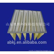 sac filtrant, filtre à manches (climatisation centrale)