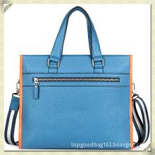 Bolsas Masculinas Blue Handbags Genuine Leather Branded Bag Men Briefcase