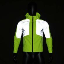 Alta qualidade de alta luz prata gary TC reflexiva fita de tecido elástico para vestuário