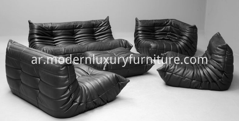 A-Series-of-Black-Full-Grain-Leather-Togo-Sofa-Set-by-Chinayadea