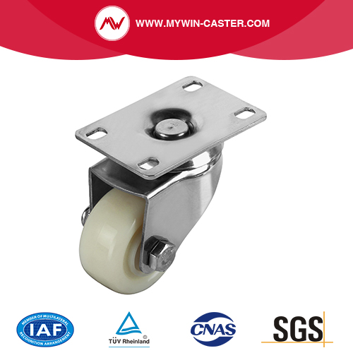 PP plaat Swivel RVS Caster