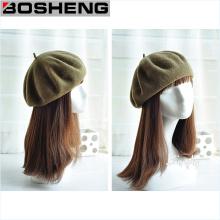 Custom Women′s Wool Warm Wool Hat Cap French Style Beret