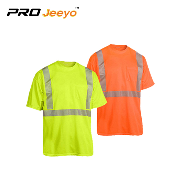 Hi Viz Safety Crew Neck Running T Shirt St Tx007