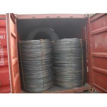 Fio de aço laminado a alta temperatura Rod de SAE1008b Canbon para a construção