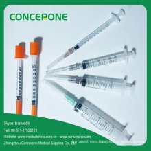 Syringe with Needle, Medical Disposable Syringe, Insulin Syringe